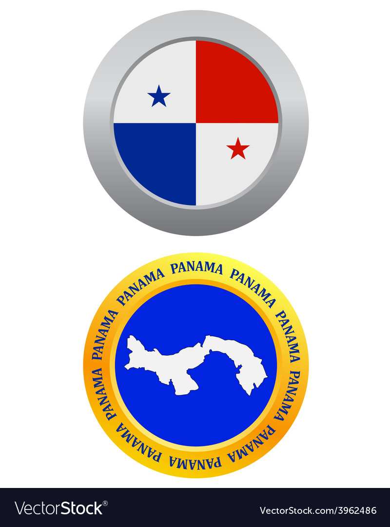 Button as a symbol panama vector | Price: 1 Credit (USD $1)