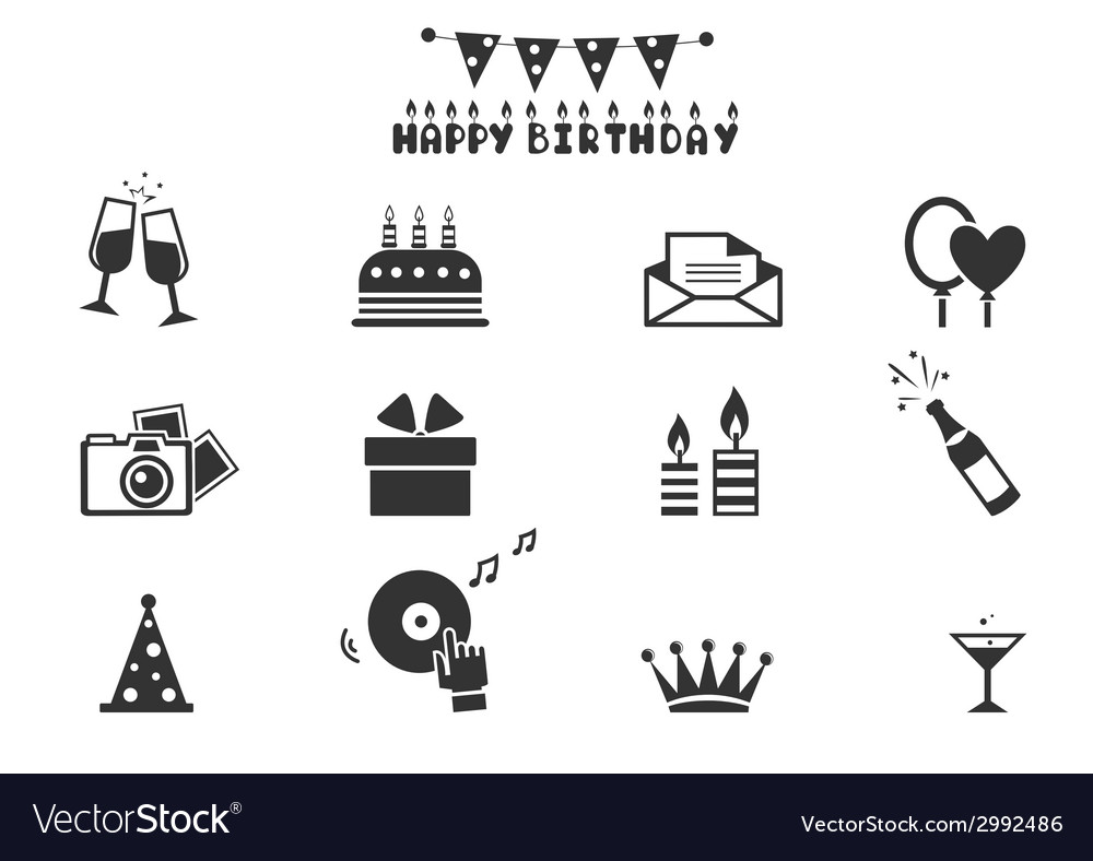 Celebration icons - vector | Price: 1 Credit (USD $1)
