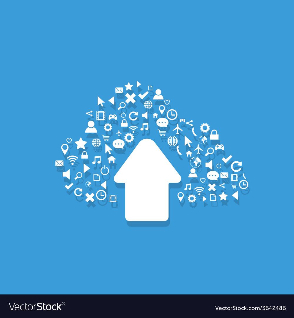 Cloud computing4 vector | Price: 1 Credit (USD $1)