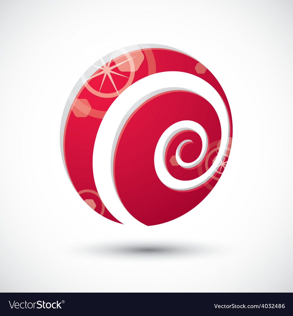 Curl symbol abstract icon 3d symbol vector | Price: 1 Credit (USD $1)
