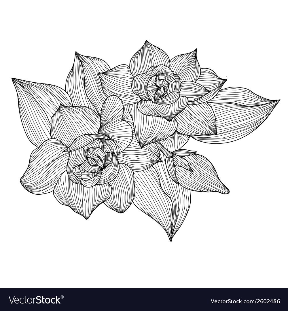 Decorative gardenia vector | Price: 1 Credit (USD $1)