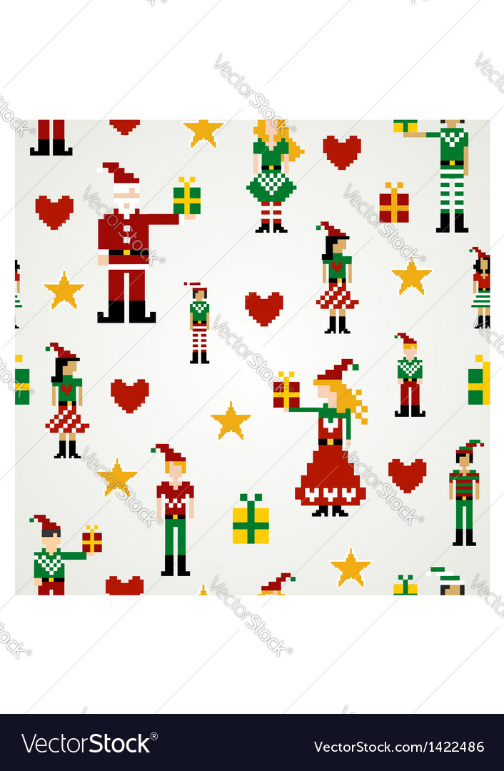 Seamless christmas pattern background vector | Price: 1 Credit (USD $1)
