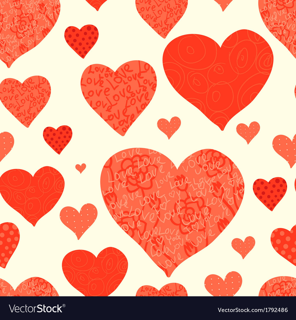 Seamless valentines day background vector | Price: 1 Credit (USD $1)