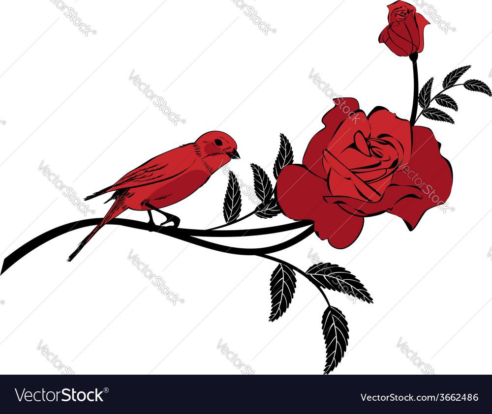 Valentinel vignette with bird vector | Price: 1 Credit (USD $1)