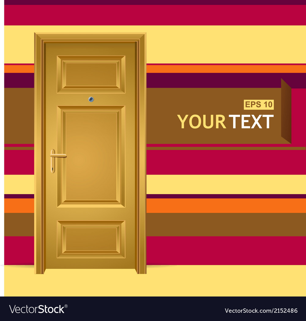 Yellow door in the wall for text vector | Price: 1 Credit (USD $1)