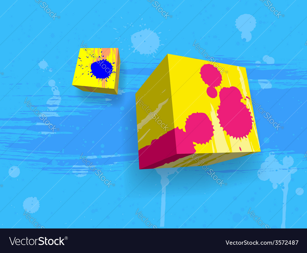 Abstract grungy cubes vector | Price: 1 Credit (USD $1)