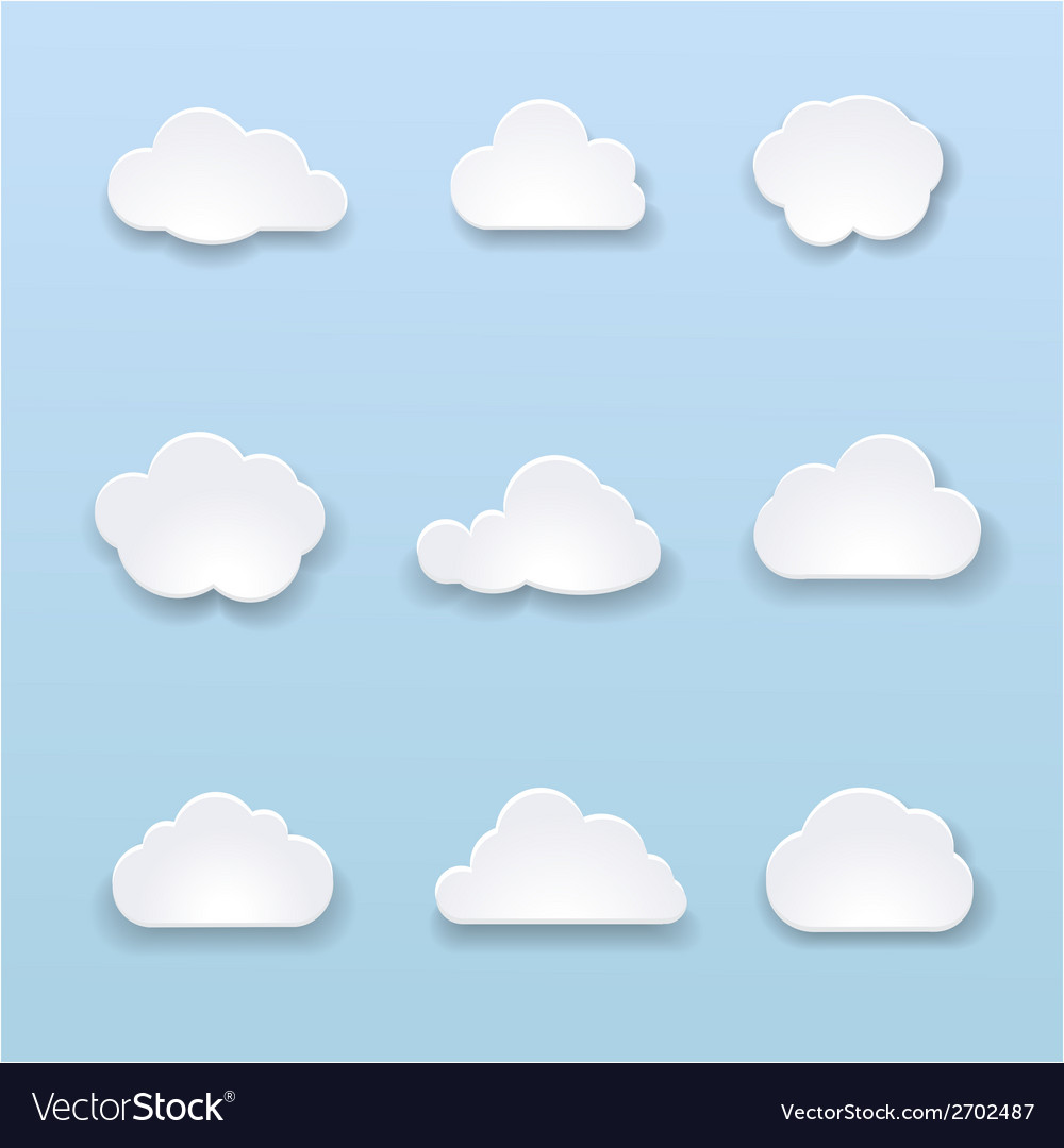 Abstract shape of clouds on blue background vector | Price: 1 Credit (USD $1)