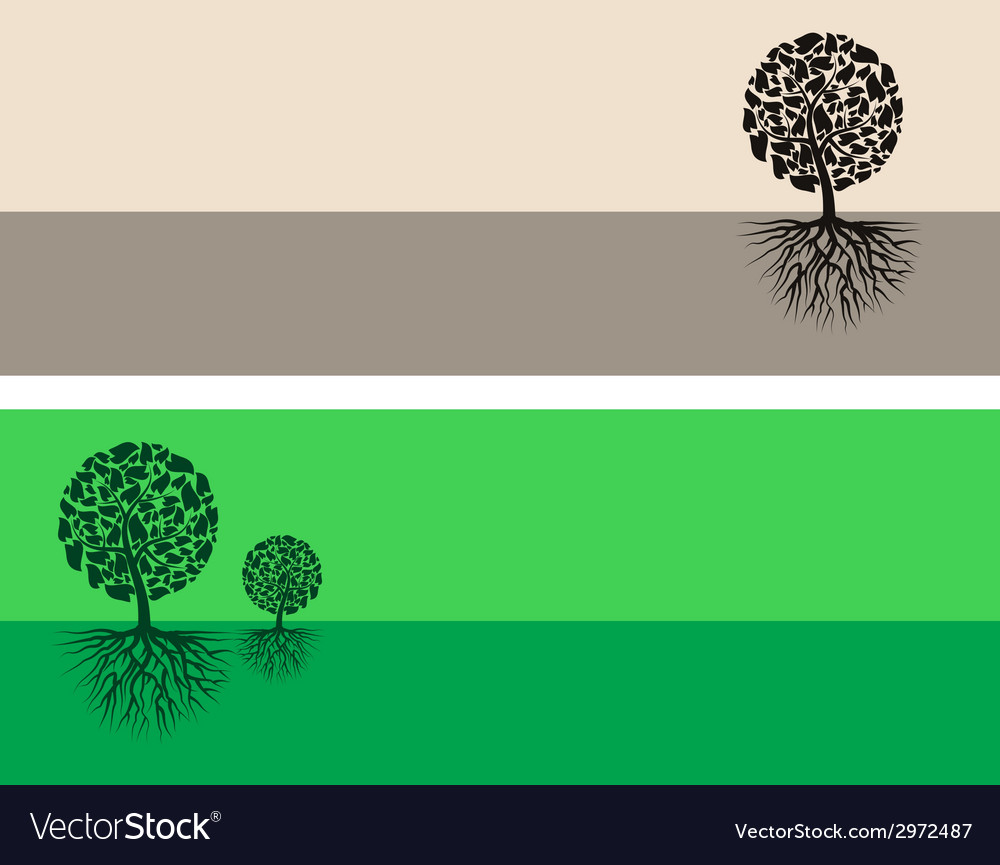 Brown and green nature vector | Price: 1 Credit (USD $1)