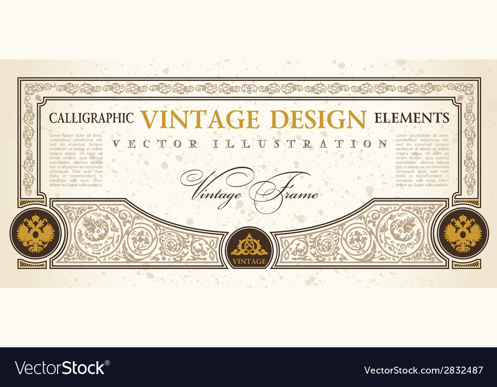 Certificate or coupon template design element vector | Price: 1 Credit (USD $1)