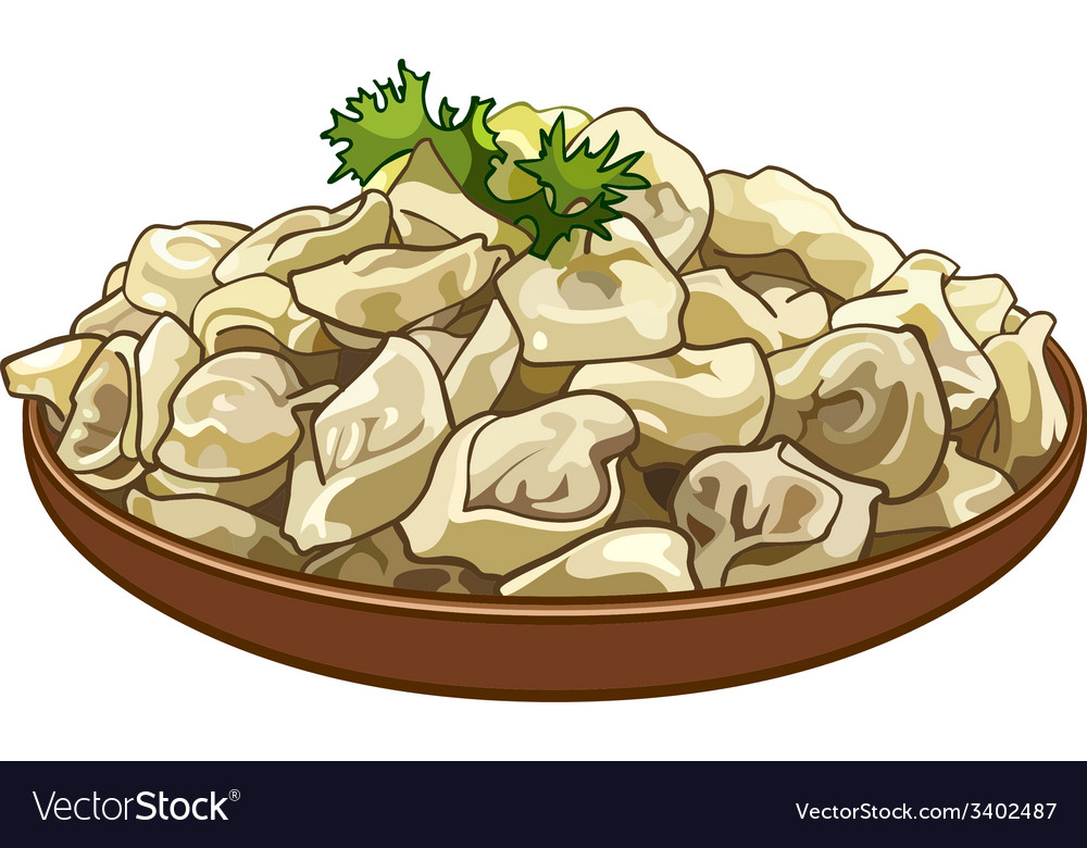 Dumplings on a platter vector | Price: 3 Credit (USD $3)