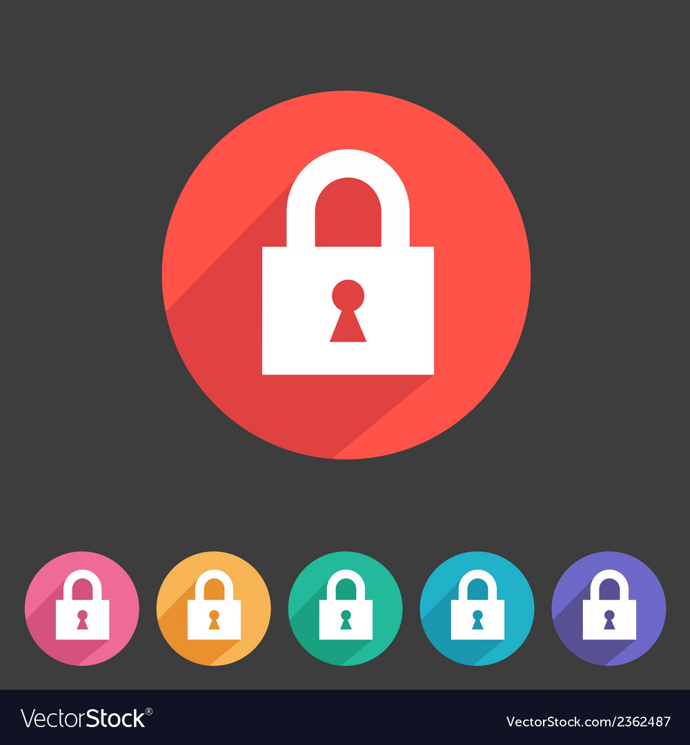 Flat game graphics icon lock vector   Price: 1 Credit (USD $1)