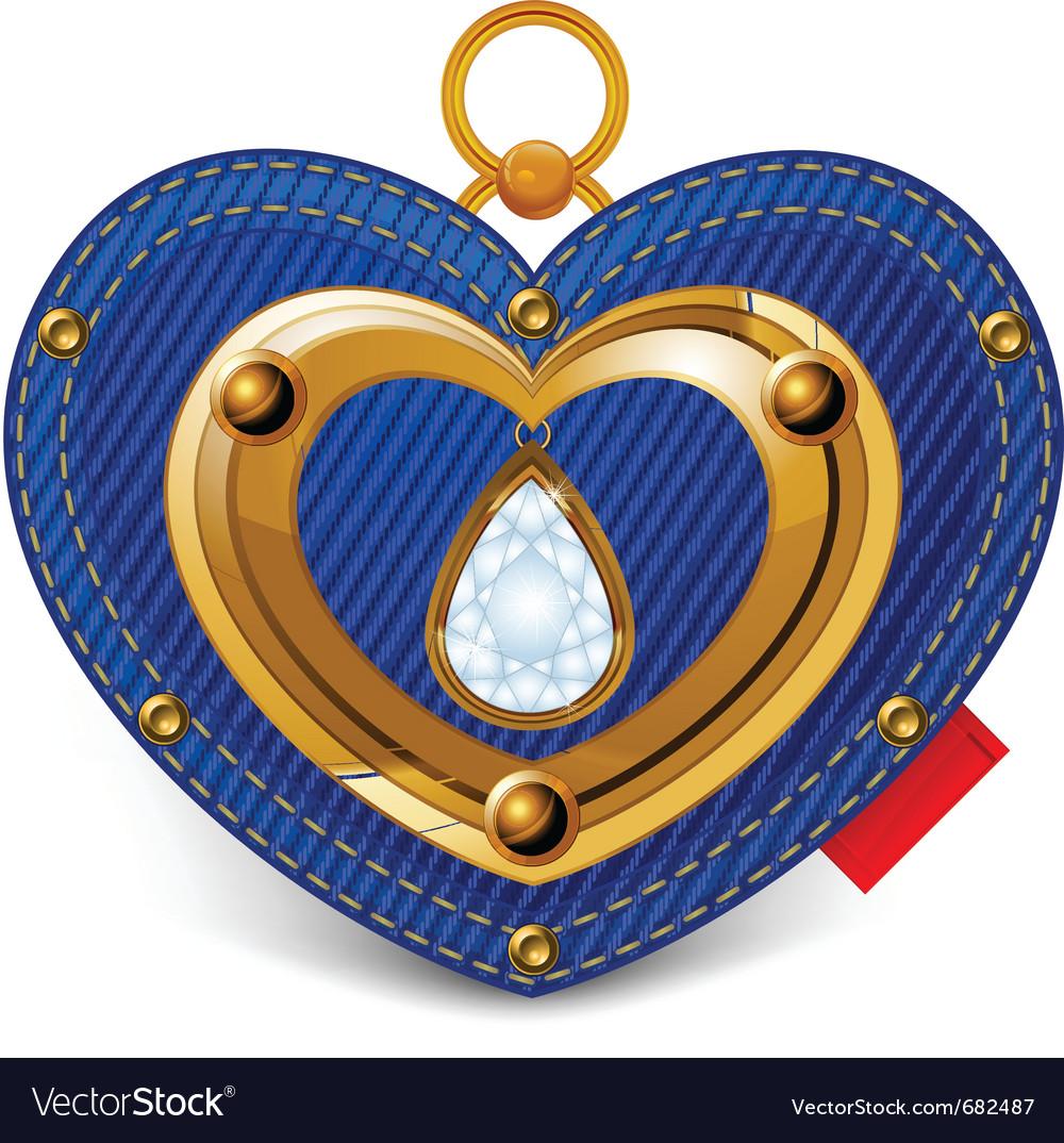 Jewelry heart vector | Price: 1 Credit (USD $1)