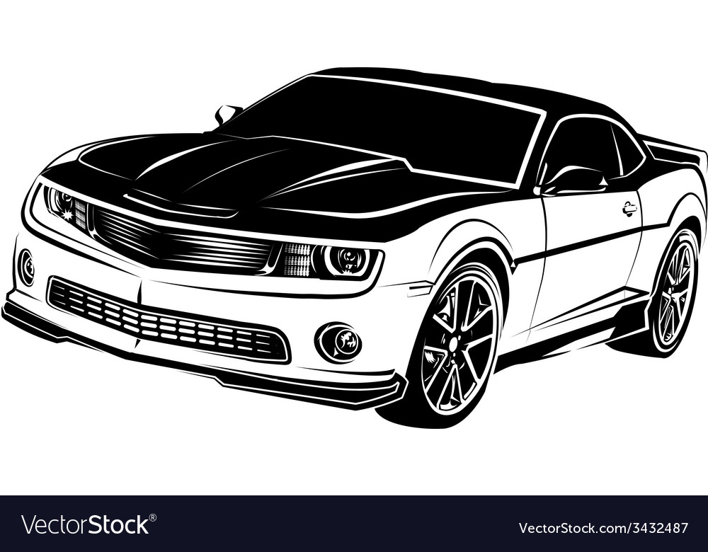Muscle american car vector | Price: 1 Credit (USD $1)