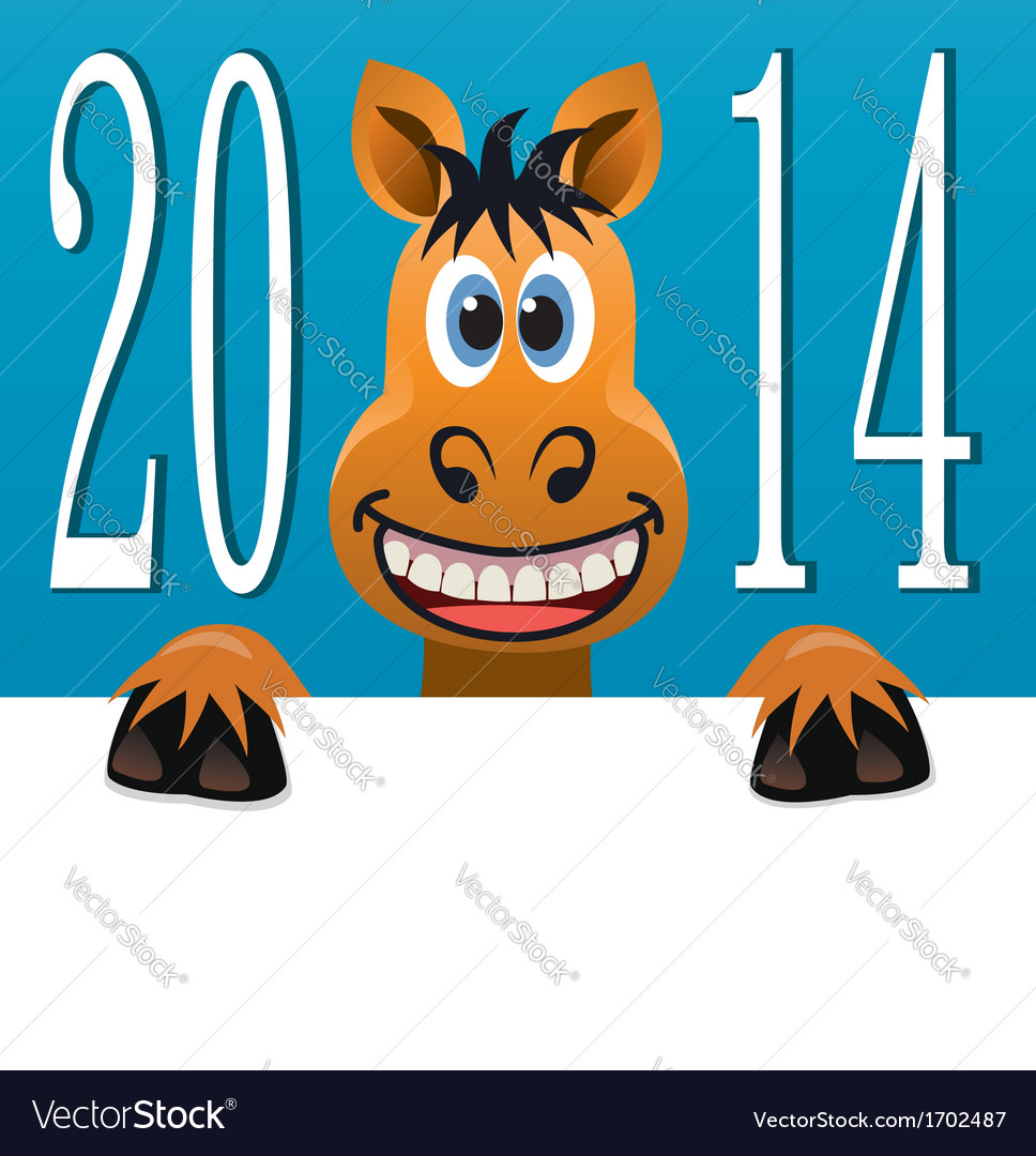 New year horse vector | Price: 1 Credit (USD $1)