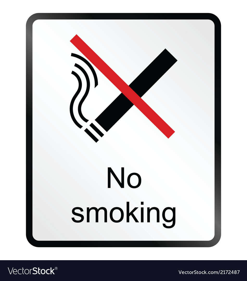 No smoking information sign vector | Price: 1 Credit (USD $1)