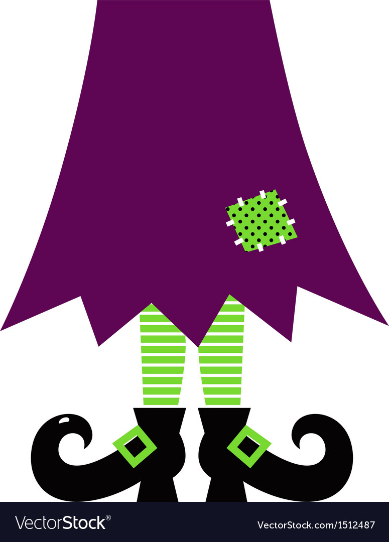 Retro halloween witch legs isolated on white vector | Price: 1 Credit (USD $1)