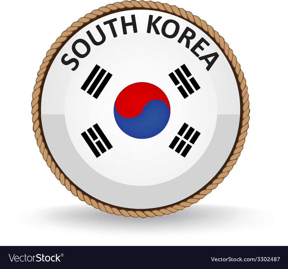 South korea seal vector | Price: 1 Credit (USD $1)