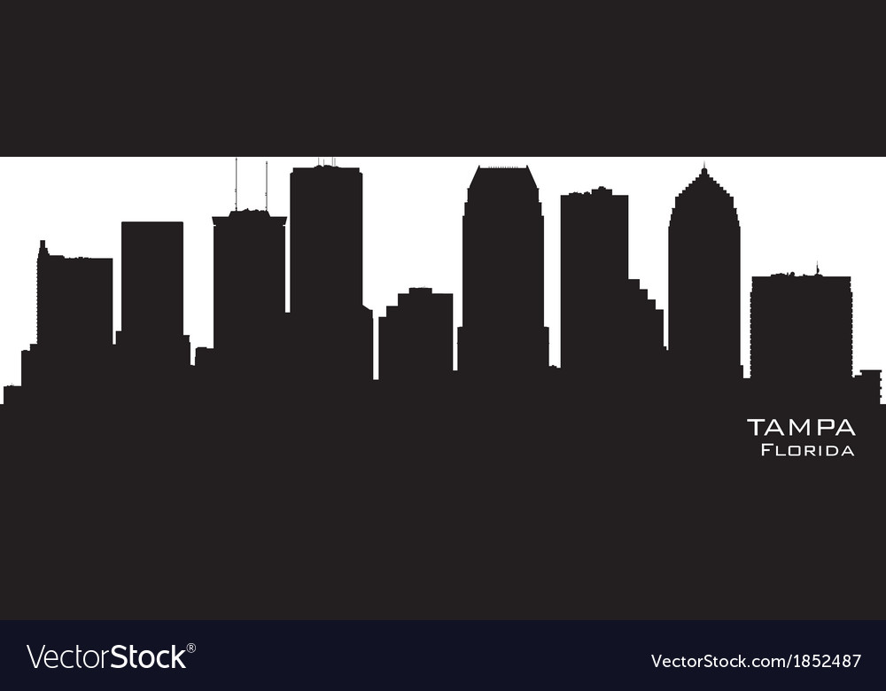 Tampa florida skyline detailed silhouette vector | Price: 1 Credit (USD $1)
