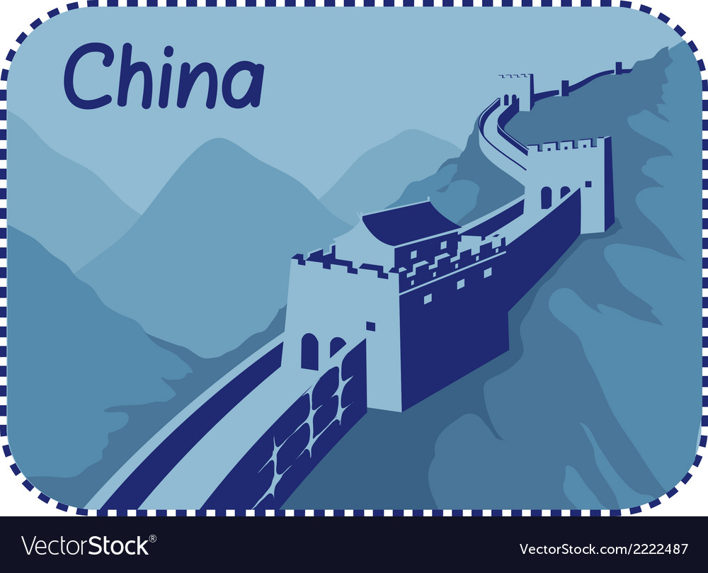 With great wall of china vector | Price: 1 Credit (USD $1)