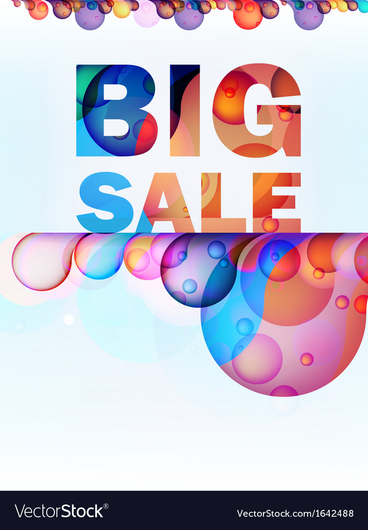 Abstract splash big sale card  eps10 vector | Price: 1 Credit (USD $1)
