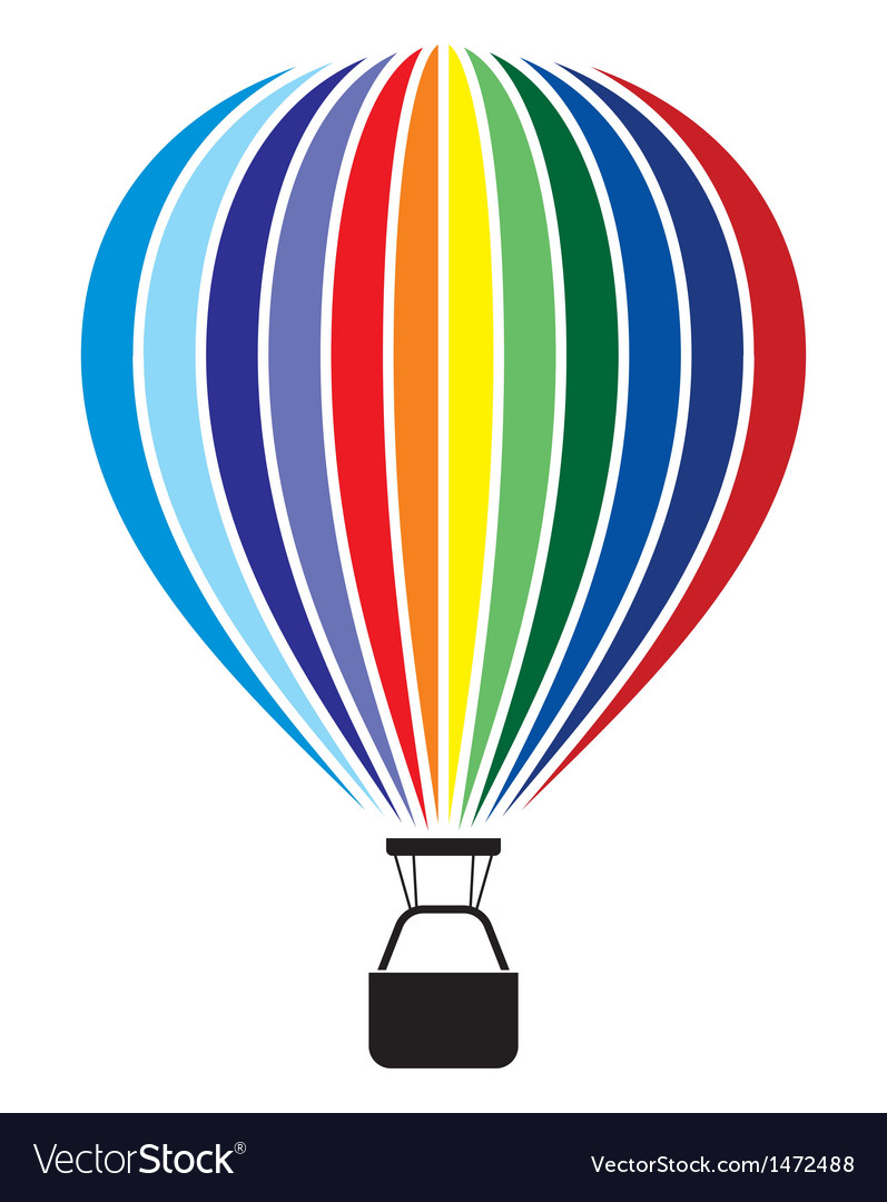 Air balloon isolated on white vector | Price: 1 Credit (USD $1)