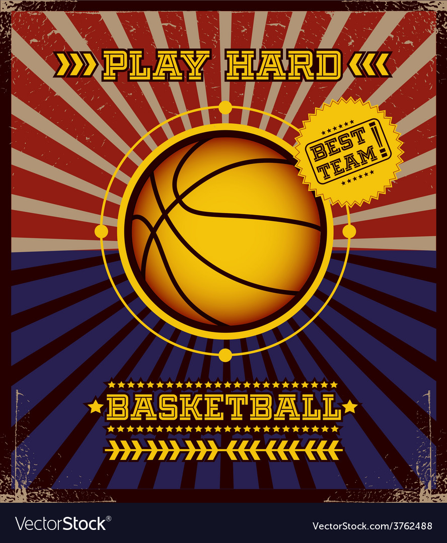 Basketball poster design vector | Price: 1 Credit (USD $1)