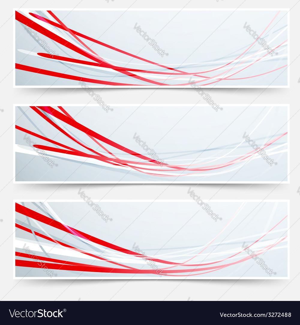 Bright red speed rapid swoosh stream line header vector | Price: 1 Credit (USD $1)