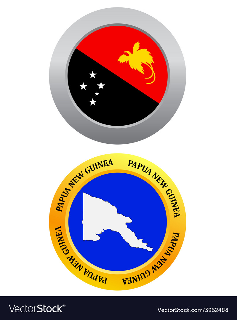 Button as a symbol papua new guinea vector | Price: 1 Credit (USD $1)