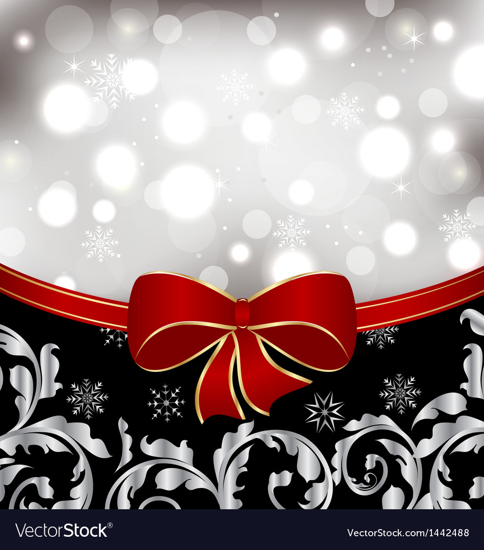 Christmas floral background ornamental design vector | Price: 1 Credit (USD $1)
