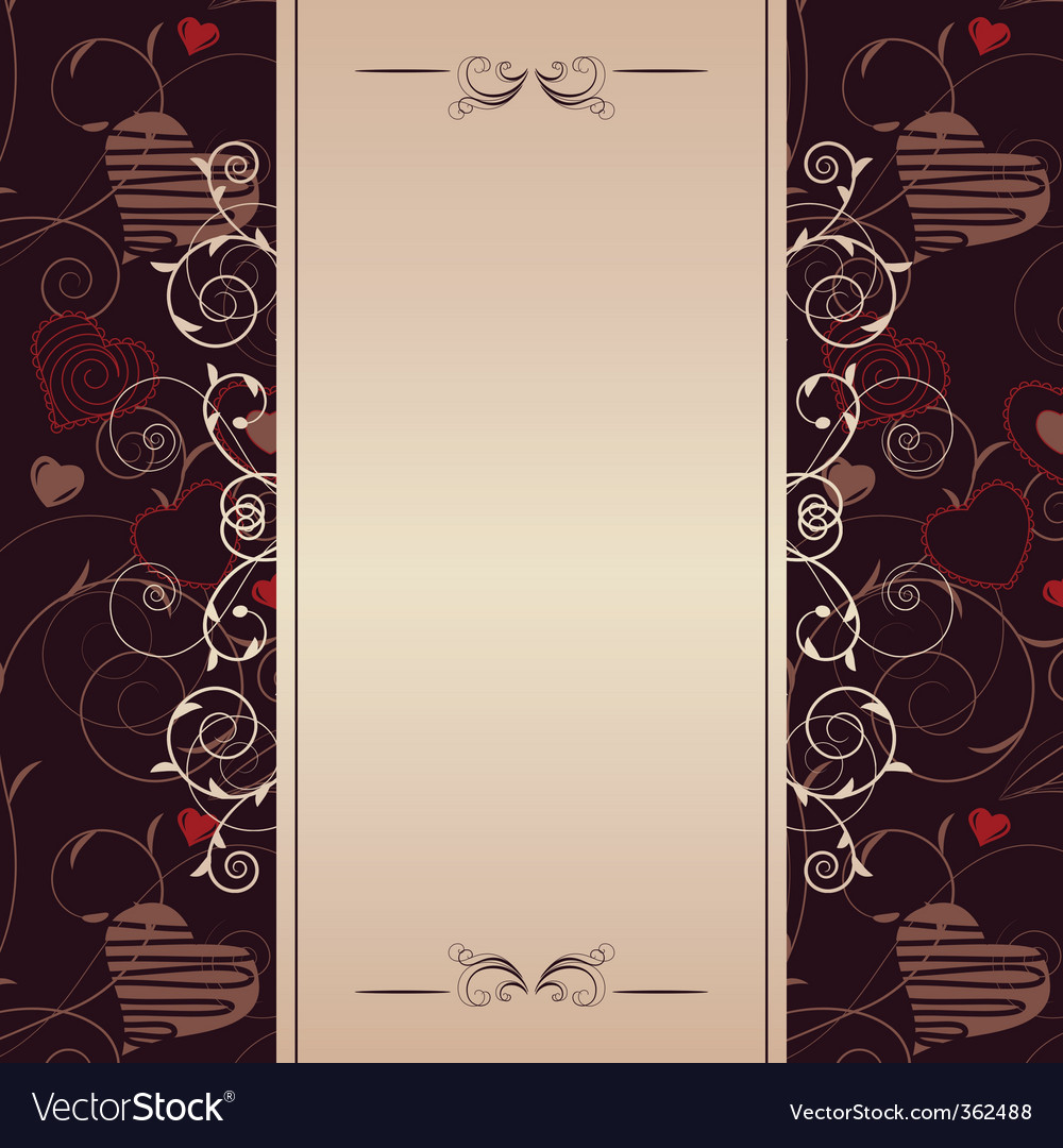 Frame with stylized hearts vector | Price: 1 Credit (USD $1)