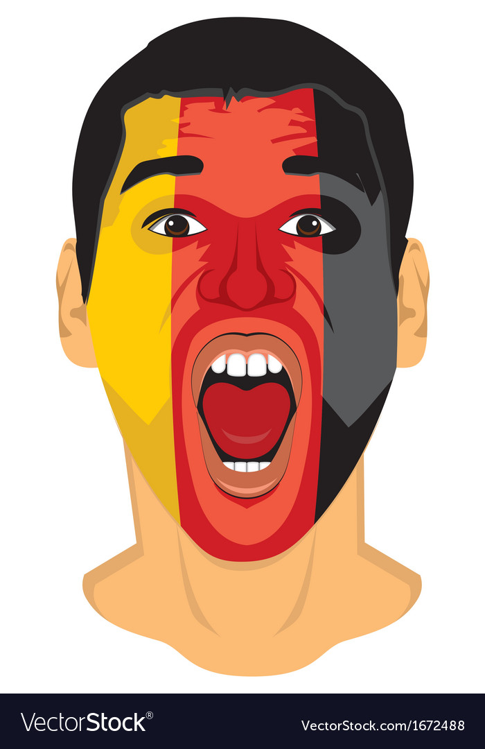 Go go germany face vector | Price: 1 Credit (USD $1)
