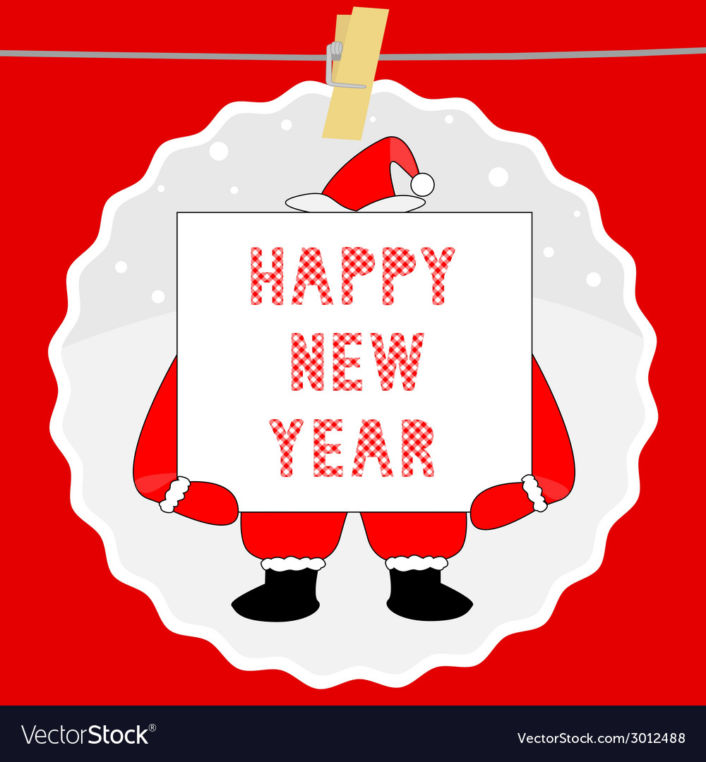 Happy new year greeting card7 vector | Price: 1 Credit (USD $1)
