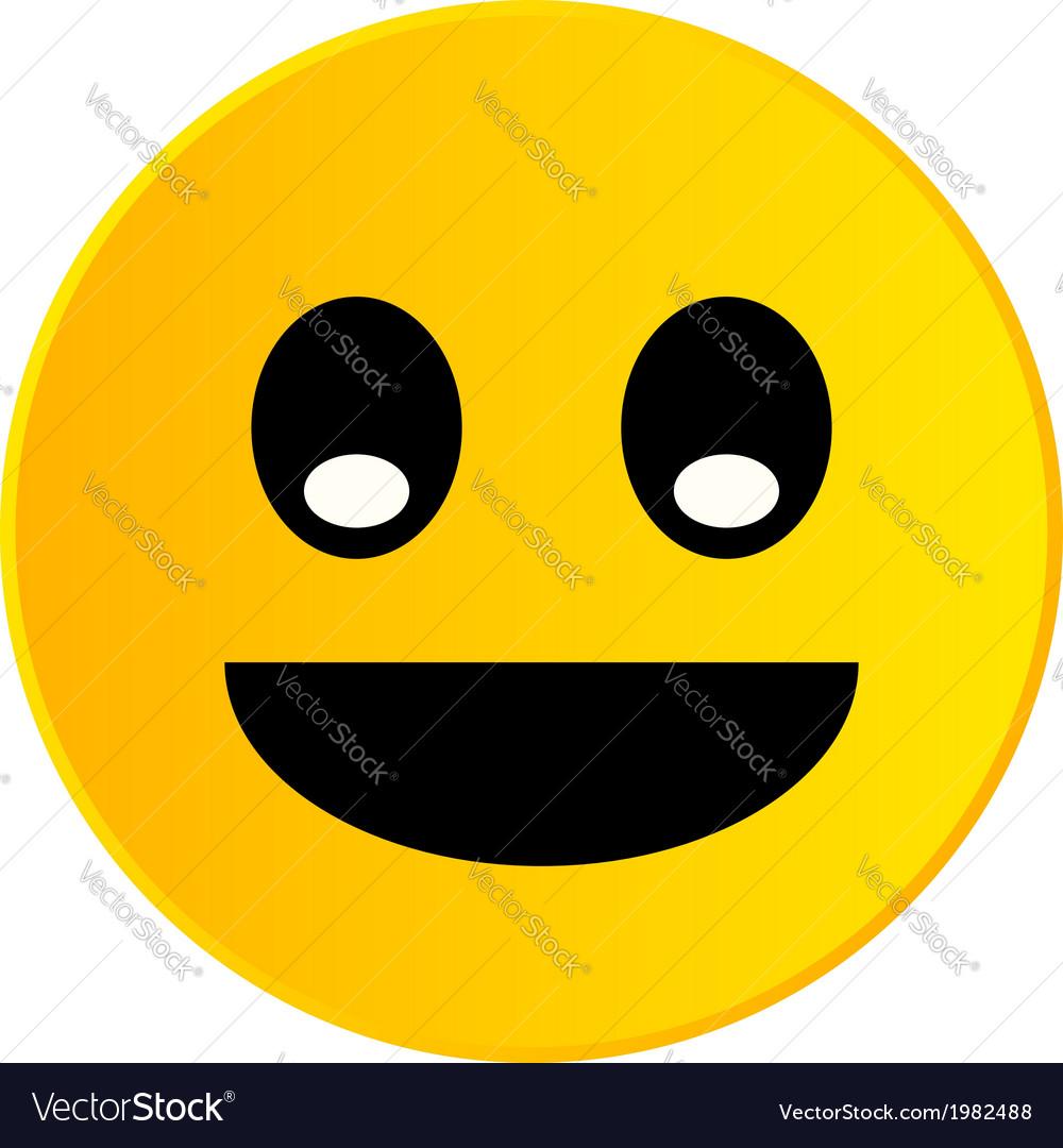 Happy smiley vector | Price: 1 Credit (USD $1)