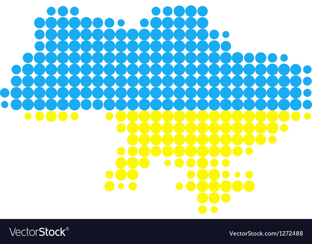 Map and flag of ukraine vector | Price: 1 Credit (USD $1)