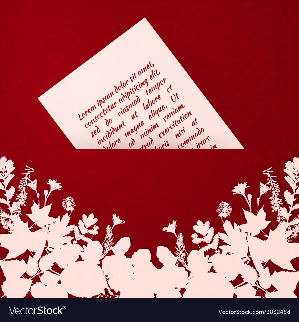 Painted leaves greeting card template vector   Price: 1 Credit (USD $1)