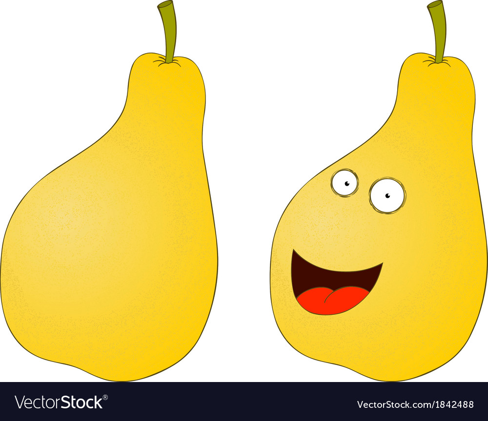 Pear cartoon vector | Price: 1 Credit (USD $1)