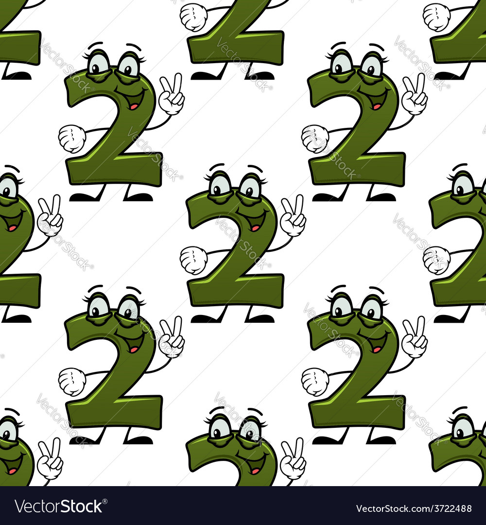 Seamless background with cartooned number 2 vector | Price: 1 Credit (USD $1)