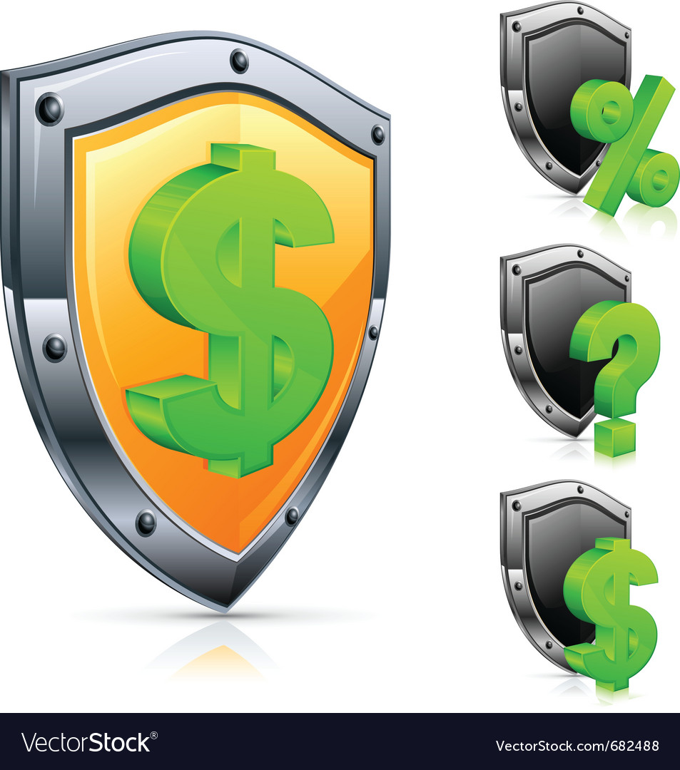 Shield economic icons vector | Price: 1 Credit (USD $1)