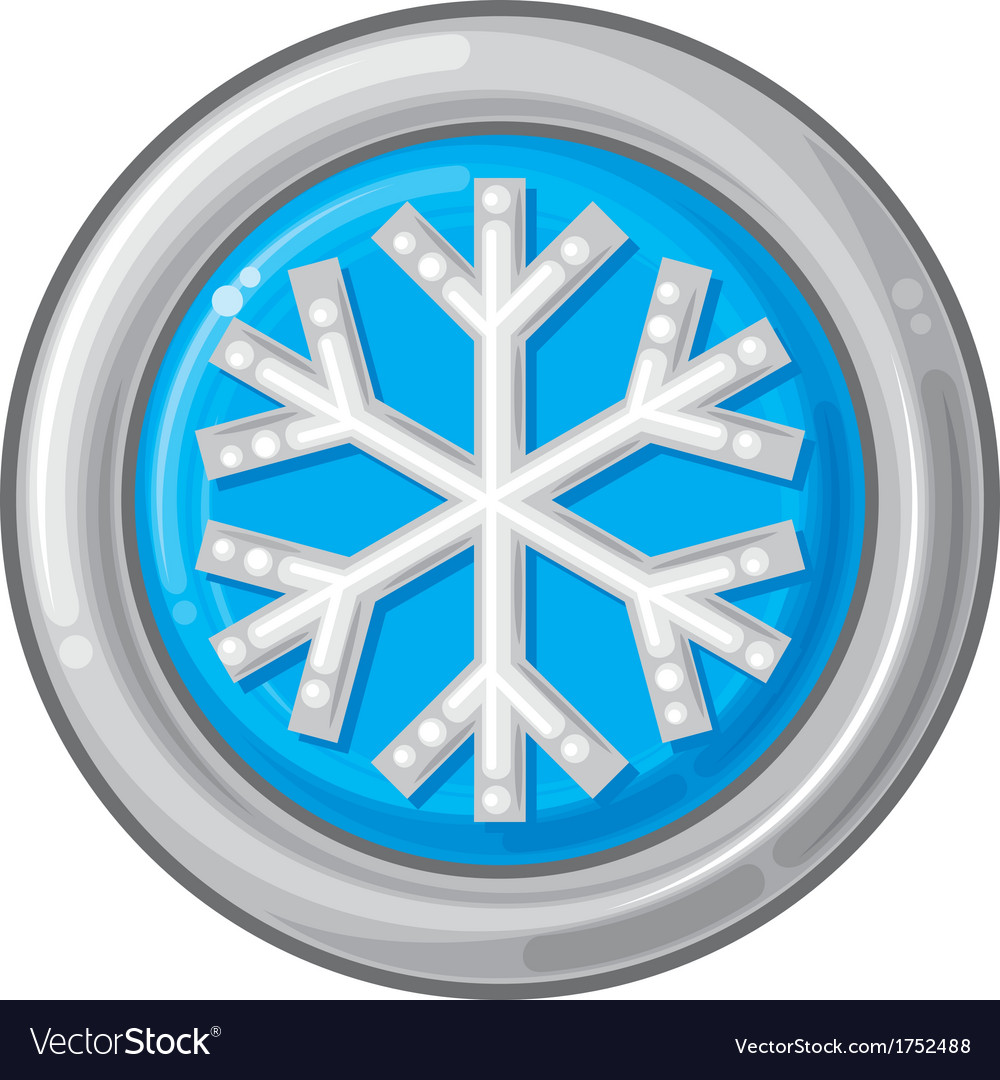 Snowflake sign button vector | Price: 1 Credit (USD $1)