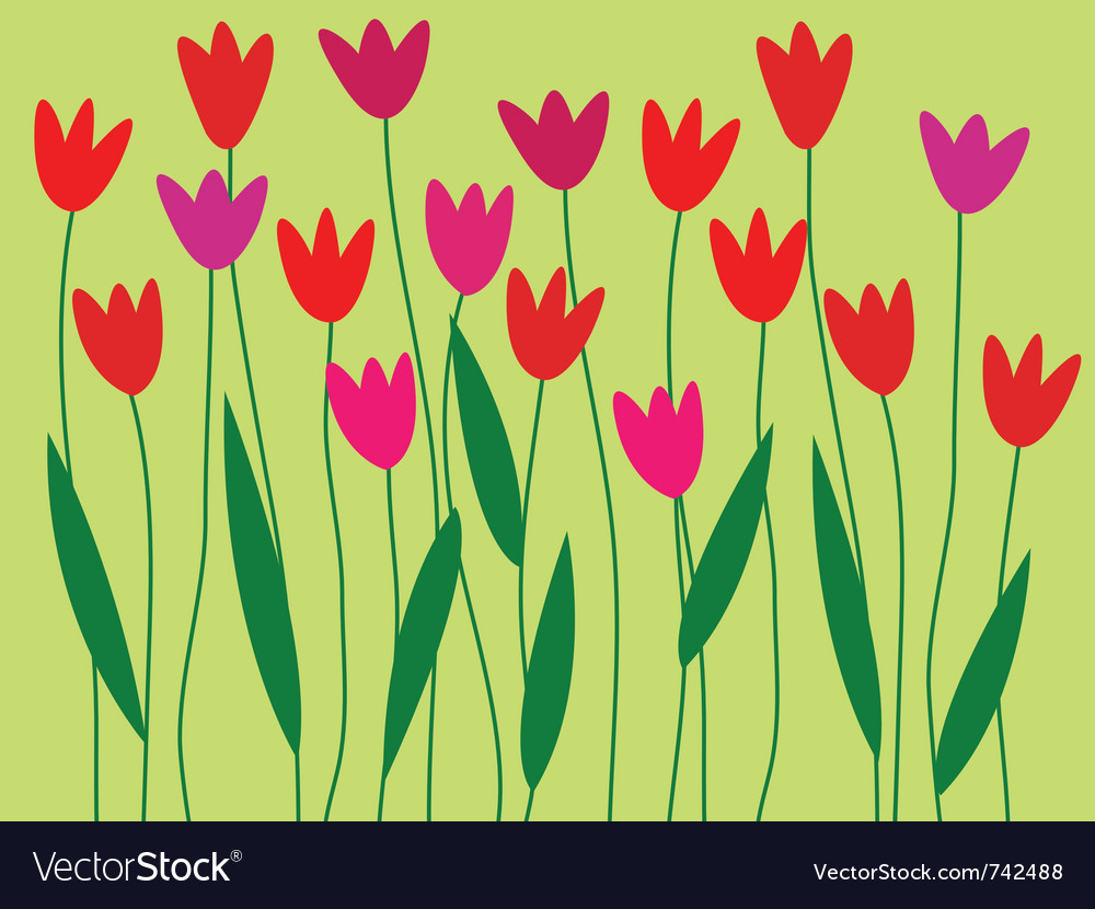 Spring flower border vector | Price: 1 Credit (USD $1)