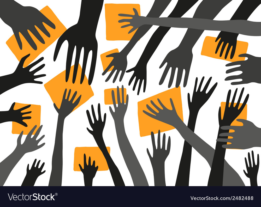 Stretching hands vector | Price: 1 Credit (USD $1)