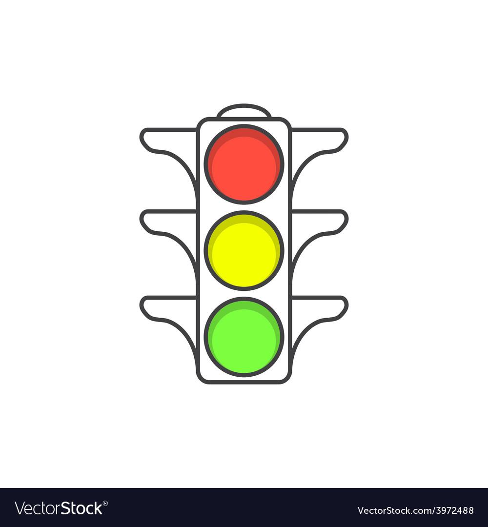 Traffic light icon vector | Price: 1 Credit (USD $1)