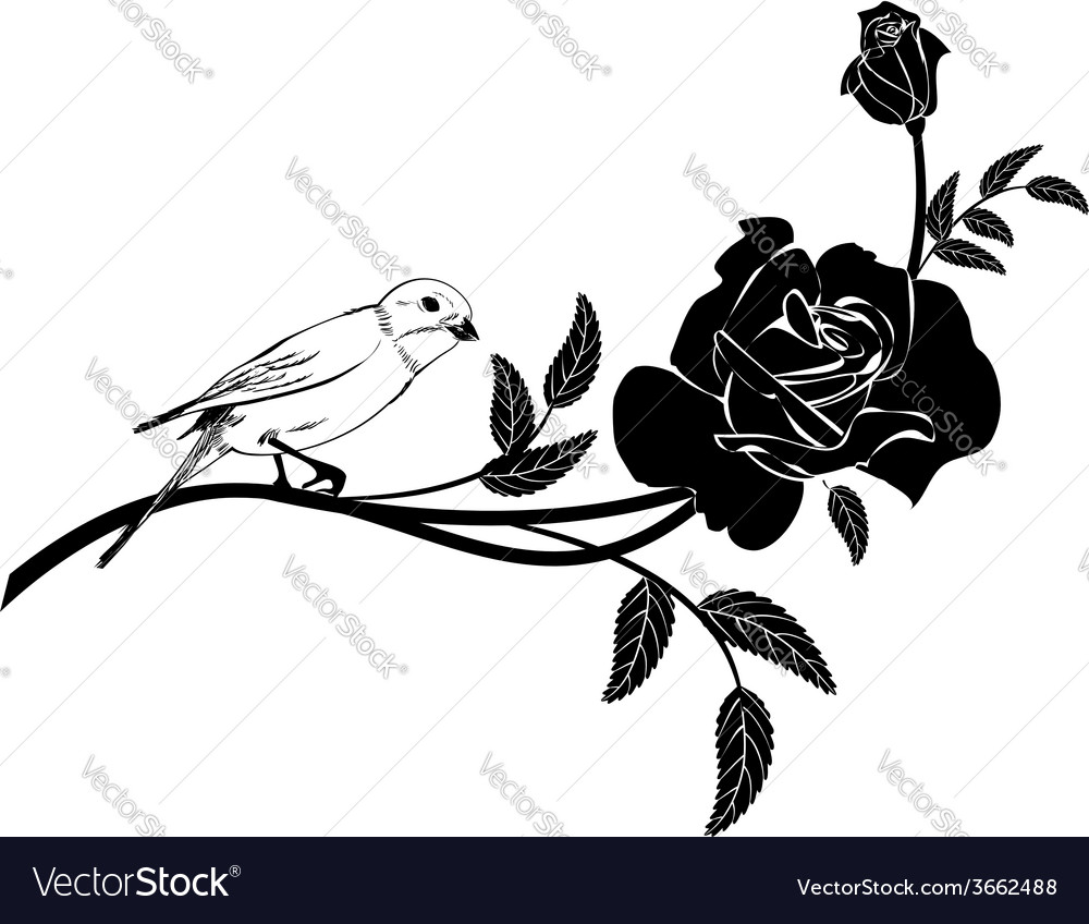 Valentinel vignette with bird vector | Price: 1 Credit (USD $1)