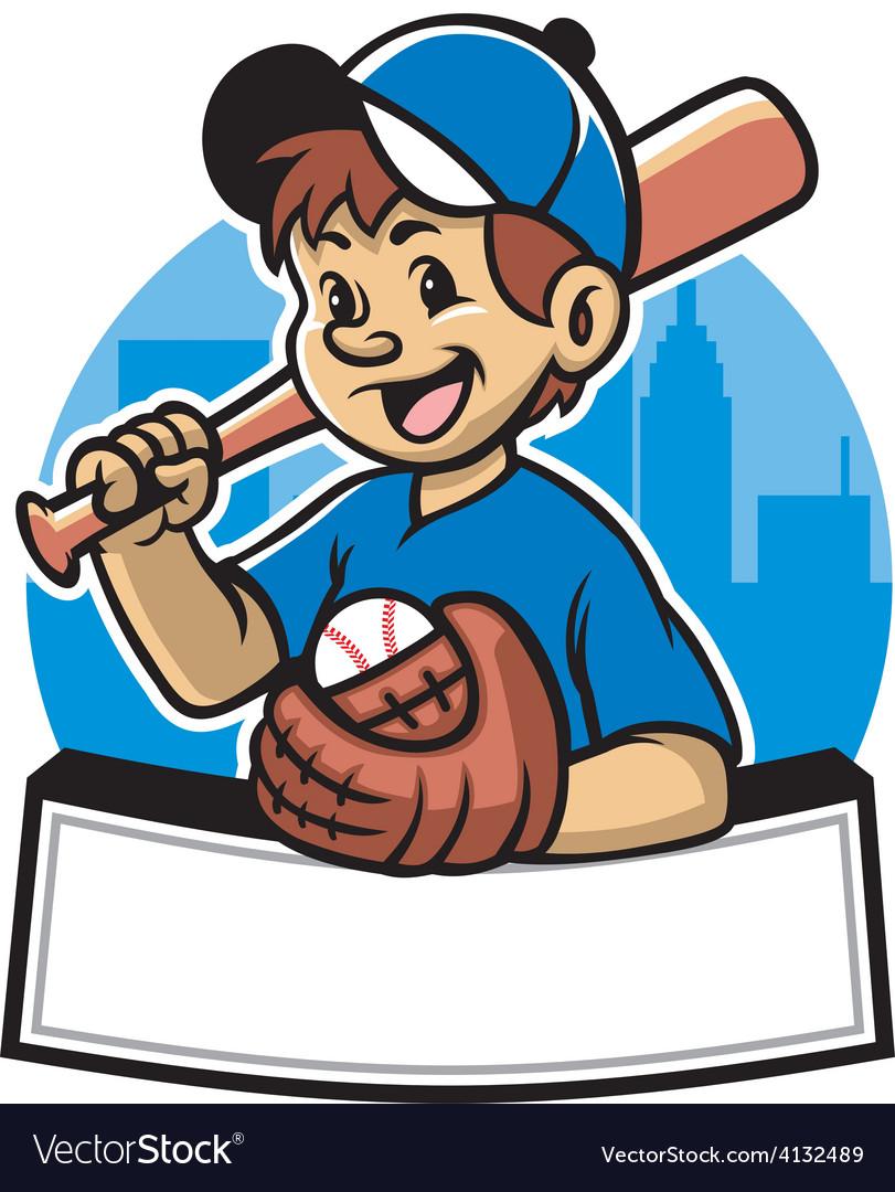 Baseball kid vector | Price: 3 Credit (USD $3)