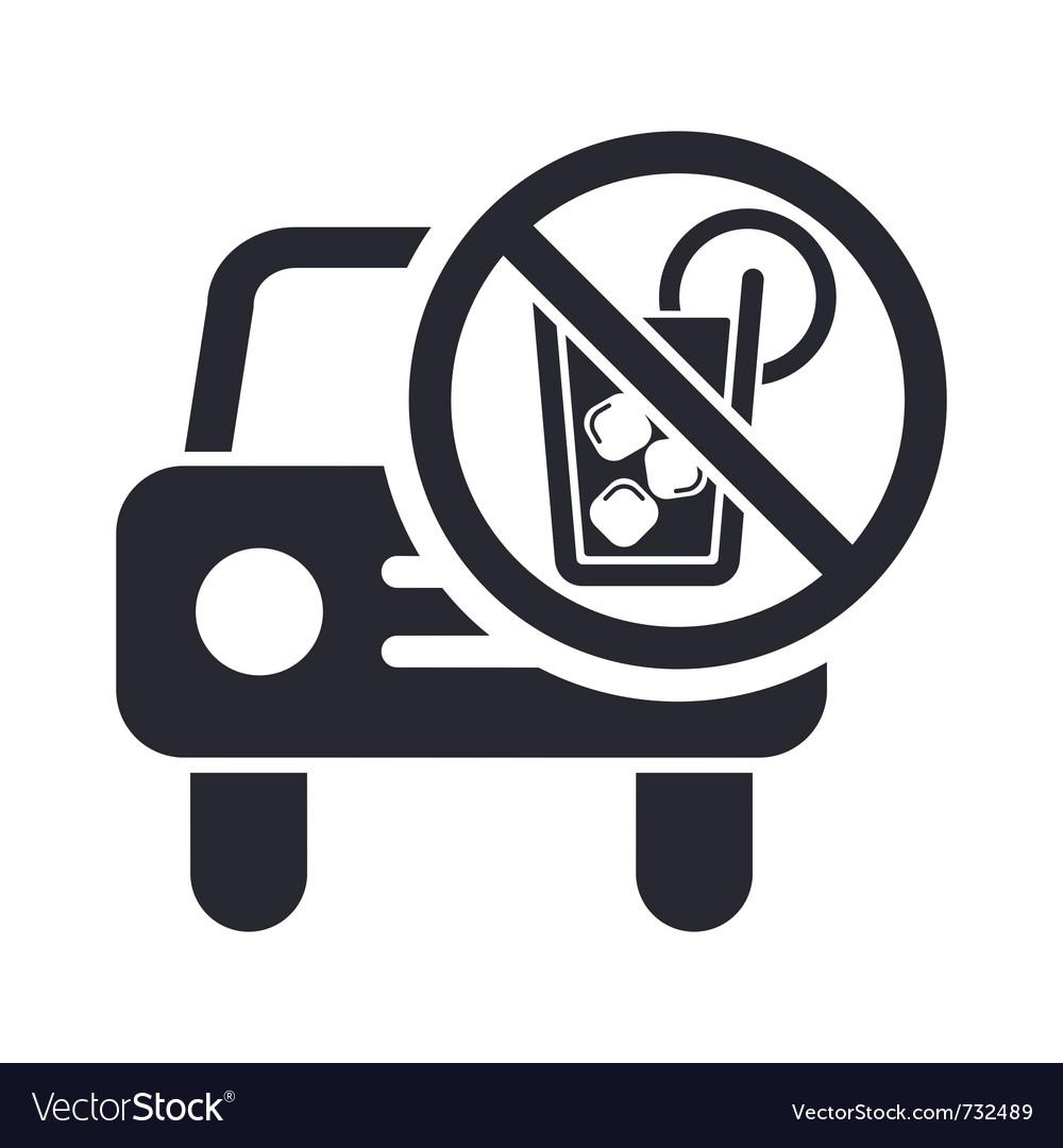 Drunk drive icon vector | Price: 1 Credit (USD $1)