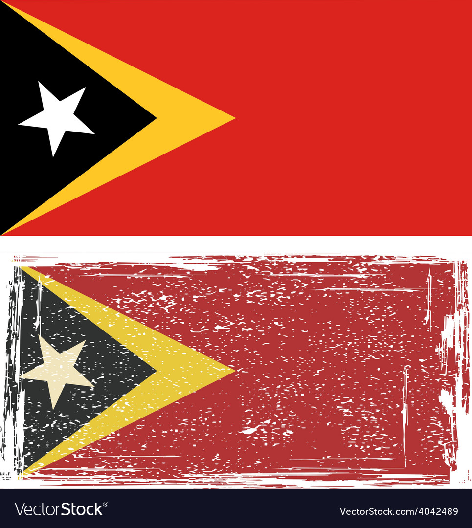 East timor grunge flag vector | Price: 1 Credit (USD $1)