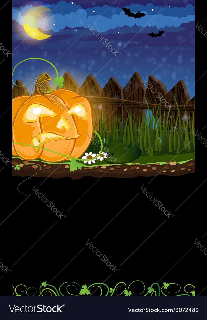 Evil jack o lantern vector | Price: 3 Credit (USD $3)