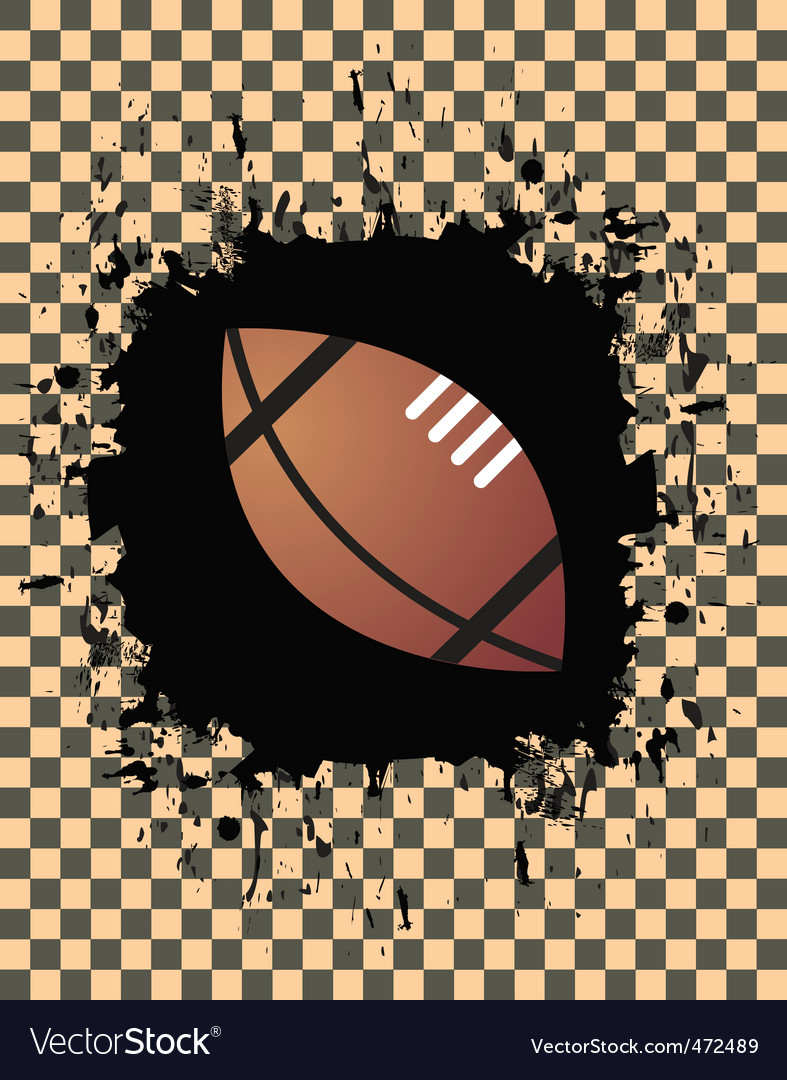 Grunge football vector | Price: 1 Credit (USD $1)