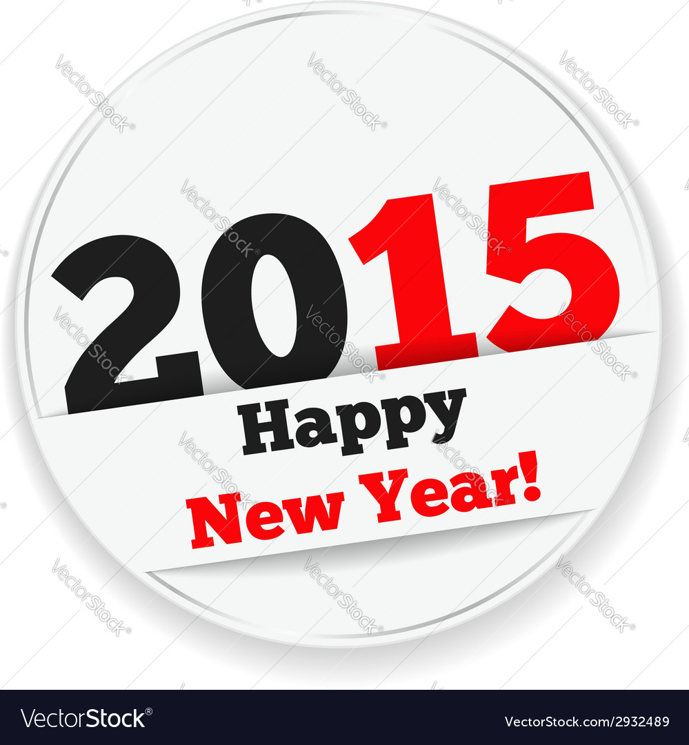 Happy new year 2015 sticker vector | Price: 1 Credit (USD $1)