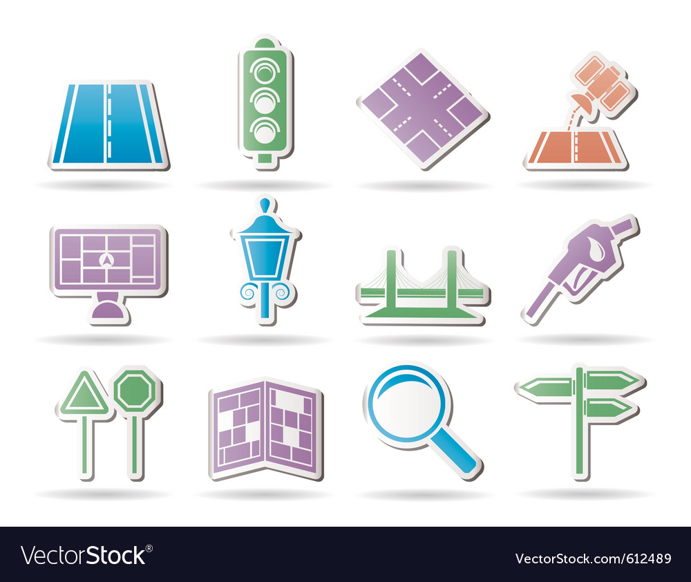Navigation and travel icons vector | Price: 1 Credit (USD $1)
